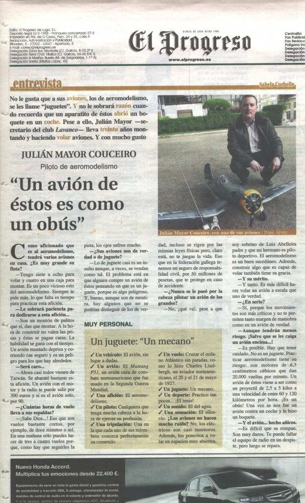 Entrevista El Progreso 24-04-06